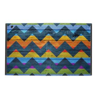 Colorful Chevron Wood Abstract #4 iPad Covers
