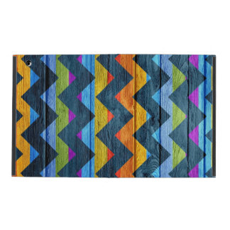 Colorful Chevron Wood Abstract iPad Folio Case