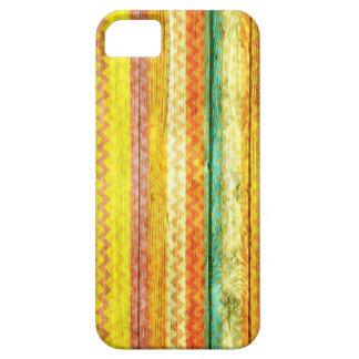 Colorful Chevron Wooden iPhone SE/5/5s Case