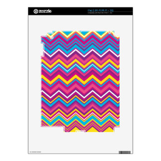 Colorful Chevron Zig Zag Pattern iPad 2 Skin