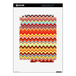 Colorful Chevron Zig Zag Pattern Skins For The iPad 2