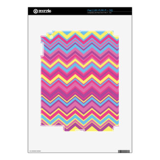 Colorful Chevron Zig Zag Pattern Decal For iPad 2