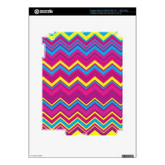 Colorful Chevron Zig Zag Pattern Decals For iPad 3