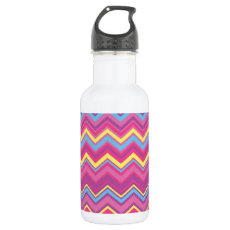 Colorful Chevron Zig Zag Pattern Water Bottle