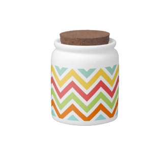 Colorful Chevron Zigzag Stripes Pattern Candy Dishes