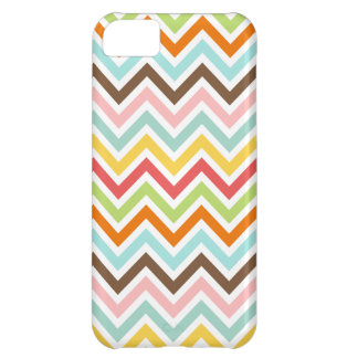 Colorful Chevron Zigzag Stripes Pattern Cover For iPhone 5C