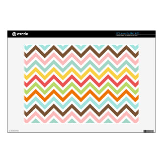 Colorful Chevron Zigzag Stripes Pattern Decals For Laptops