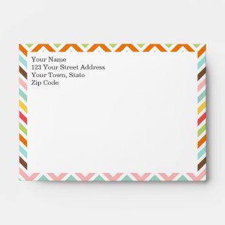 Colorful Chevron Zigzag Stripes Pattern Envelope