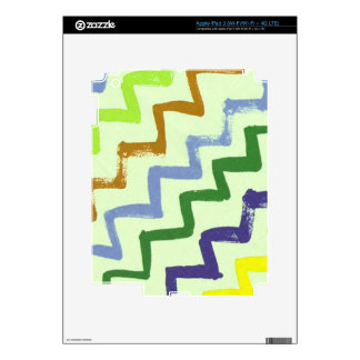 Colorful Chevron Zigzag Stripes Pattern Skins For iPad 3