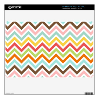 """Colorful Chevron Zigzag Stripes Pattern Skin For 11"""" MacBook Air"""