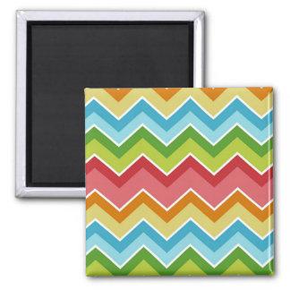 Colorful chevrons zig zag stripes pattern magnet