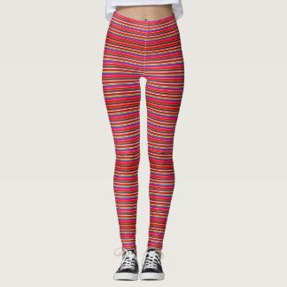 Colorful Chic Modern Horizontal Stripe Pattern Leggings