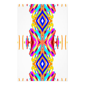 Colorful Chic Modern Tribal Pattern Stationery
