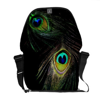Colorful Chic Photography Peacock Feathers Photo Messenger Bag