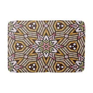 Colorful Chic Retro Ethnic Moroccan Mosaic Pattern Bath Mats