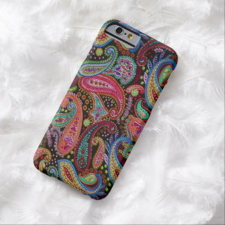 Colorful Chic Retro Pretty Paisley Floral Pattern Barely There iPhone 6 Case