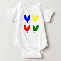 Colorful Chicken Baby Bodysuit