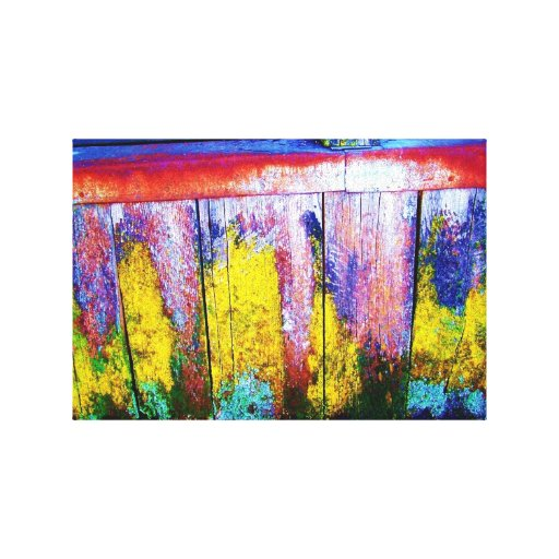 Colorful Chicken Coop Stretched Canvas Print