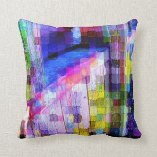 Colorful Chicken Coop Throw Pillow