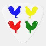 Colorful Chicken Guitar Pick at Zazzle