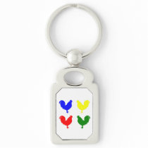 Colorful Chicken Keychain
