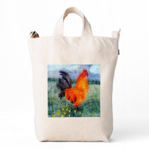 Colorful Chicken Rooster Art Duck Bag