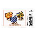 Colorful Chicks by Sophie Turrel Postage Stamps