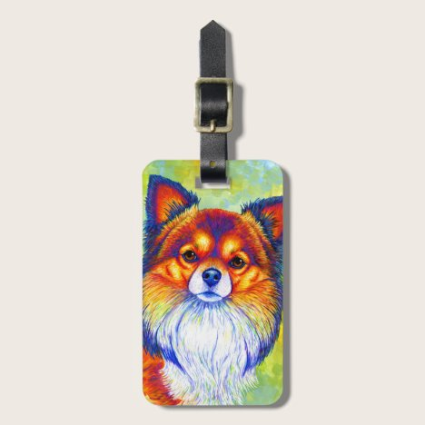Colorful Chihuahua Dog Luggage Tag
