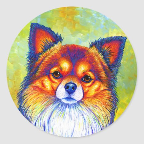 Colorful Chihuahua Dog Stickers