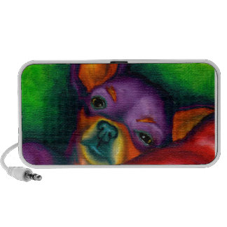 Colorful Chihuahua Portable Speakers