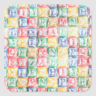 Colorful  Children's Blocks Stickers
