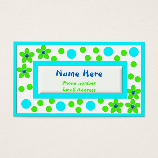 Colorful Childrens Calling Cards