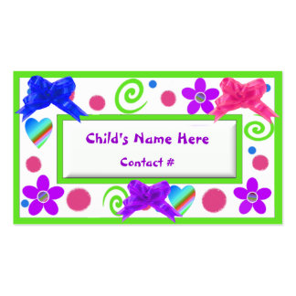 Colorful Childrens Calling Cards Double-Sided Standard Business Cards (Pack Of 100)