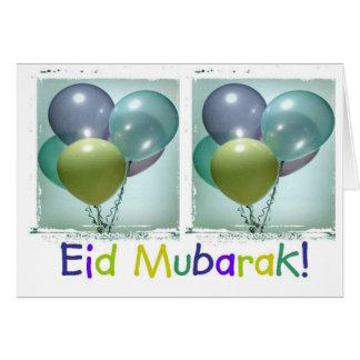 Colorful Children's Eid Mubarak Card