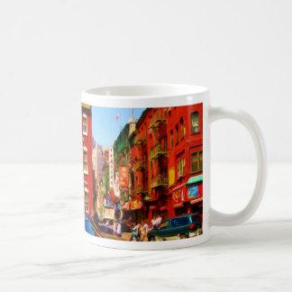 Colorful Chinatown Block NYC Coffee Mug