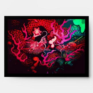 Colorful chinese dragon art envelope