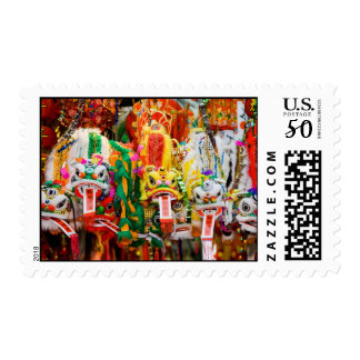 Colorful Chinese Dragons Postage