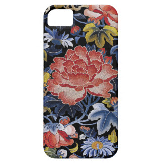 Colorful Chinese Embroidery Flowers iPhone SE/5/5s Case