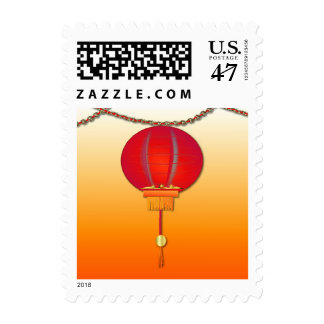 Colorful Chinese Lantern Stamp