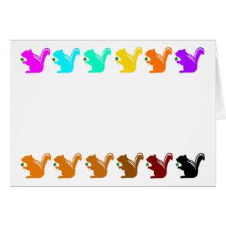 colorful chipmunks card