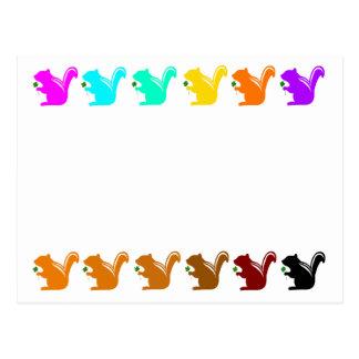 colorful chipmunks postcard
