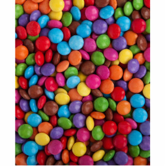 Colorful Chocolate Buttons Cutout
