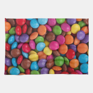 Colorful Chocolate Buttons Towel