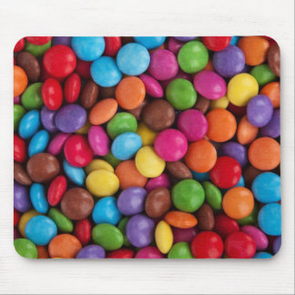 Colorful Chocolate Buttons Mouse Pad