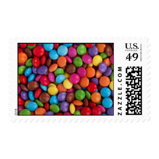 Colorful Chocolate Buttons Postage
