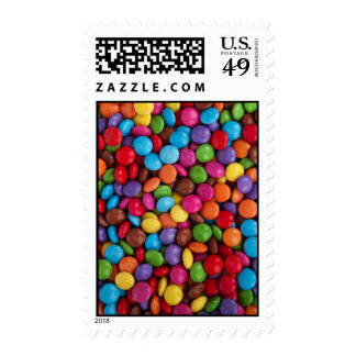 Colorful Chocolate Buttons Postage Stamp
