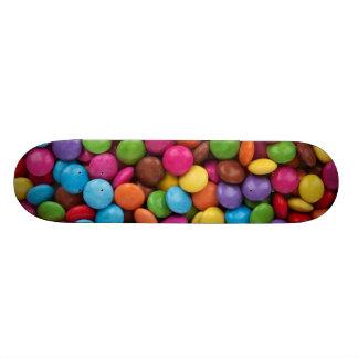 Colorful Chocolate Buttons Custom Skateboard