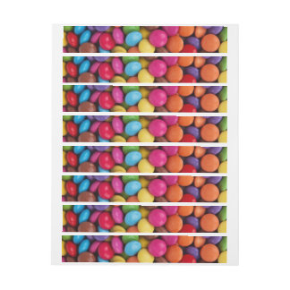 Colorful Chocolate Buttons Wrap Around Address Label