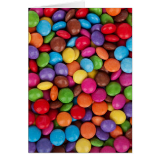 Colorful Chocolate Candies Card