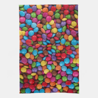 Colorful Chocolate Candy Towels